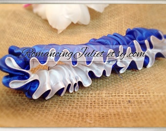 The Original Fully Reversible Bridal Garter..You Choose The Colors..shown in royal blue/white
