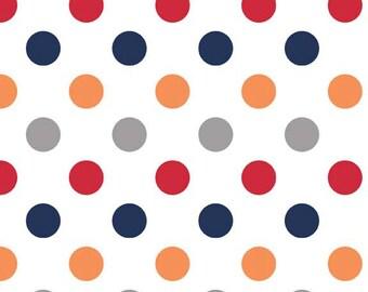 SPRING SALE - Medium Dots in Boy - 1 yard - sku C360 02 - by Riley Blake Designs