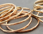 1 Skinny Rose Gold Ring Minimalist Gold Ring thin gold rings stacking rings thumb ring, knuckle ring or midi ring spring jewelry bluebirdss
