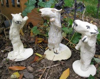 Sheeple figurine original hand formed ceramic sculpture