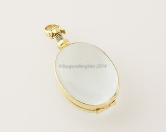 Brass Locket with Glass window