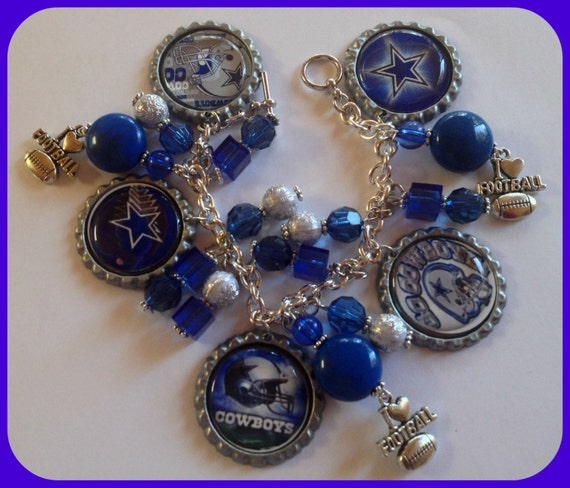 dallas cowboys charm bracelet items similar to dallas cowboys charm bracelet unique 8986