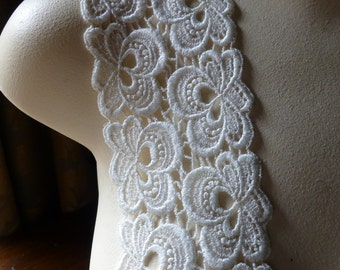Ivory Lace Venise Style for Bridal, Appliques, Headbands, Sashes, Costumes L 114