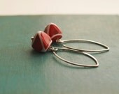 GLAM 3 lampwork sterling silver earrings