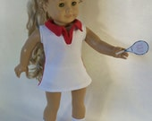 18 Inch  Doll Tennis Dress with Briefs & Shoes