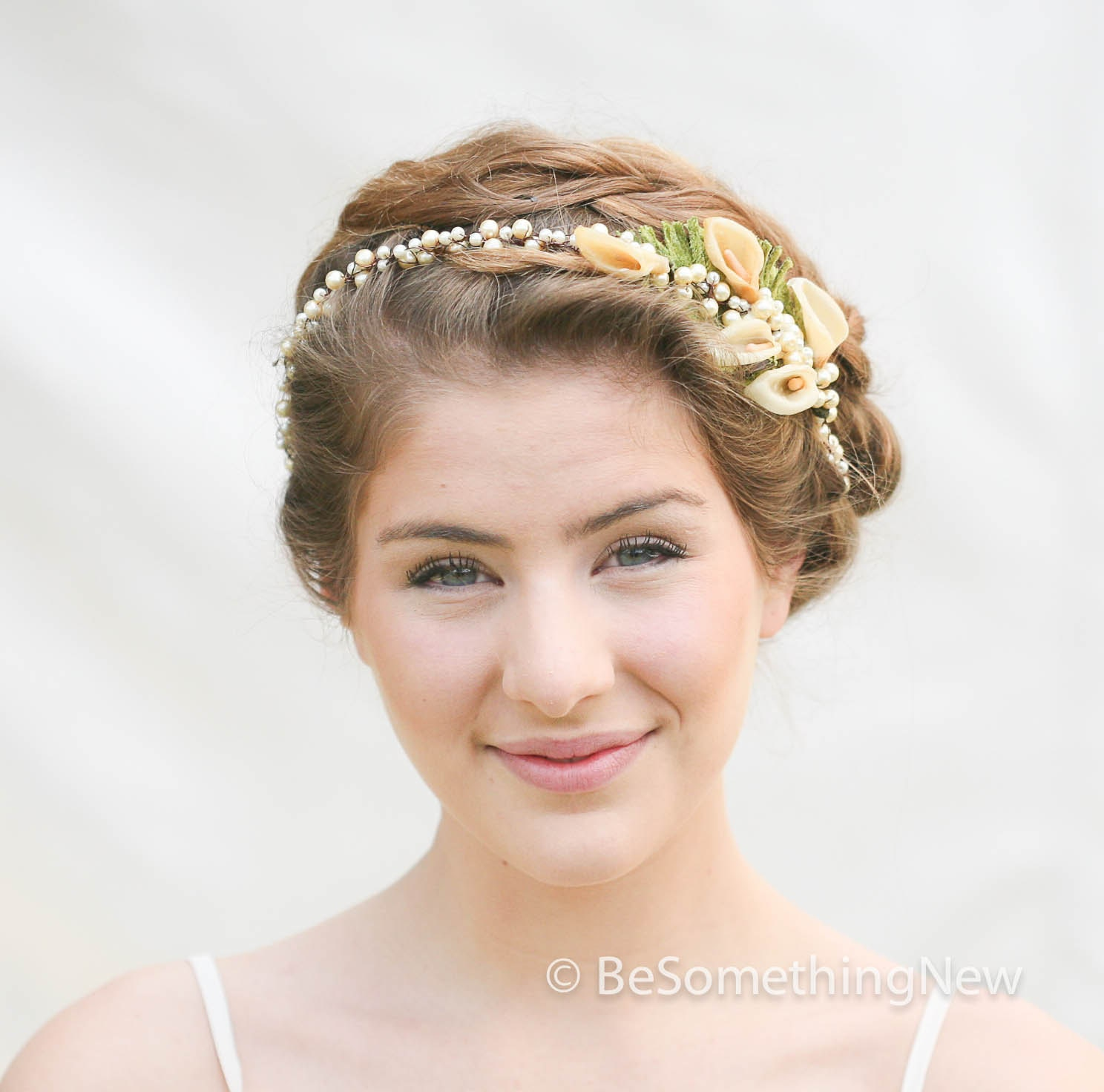 Vintage Wedding Headpieces: Vintage Wax Flower Pearl Headpiece Vintage Wedding Headpiece