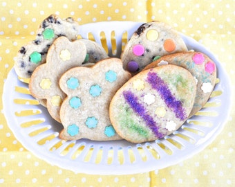 Easter Sugar Cookies - One dozen bunny and Easter egg cookies of your choice