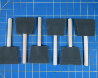 Two dollars for six paint brushes! Three-inch JEN Mfg. Poly-Sponge Brushes.