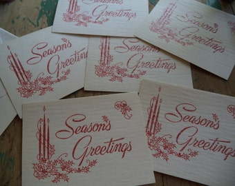 6 Vintage Holiday Cards