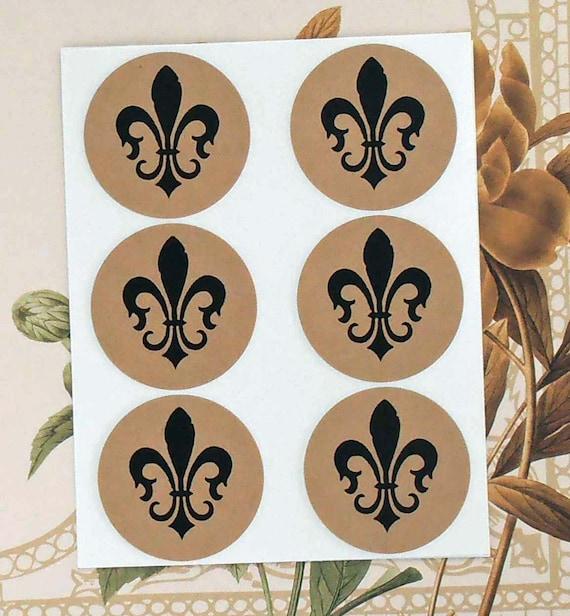 Stickers Vintage Style Envelope Seals French Fleur de lis Weddings Party Favor Treat Bag Sticker SP038