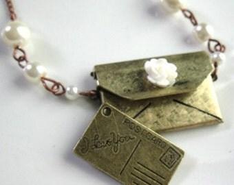 Love Letter Brass Envelope Locket