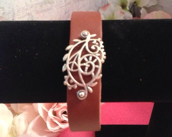 Leather Filigree  Bracelet