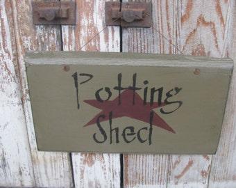 Primitive Potting Shed Sign GCC4955