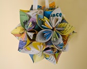 Large Oh The Places You'll Go Book Paper Flower Ball Ornament