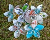 Green Eggs and Ham Book Paper Flowers {5 Large Size}
