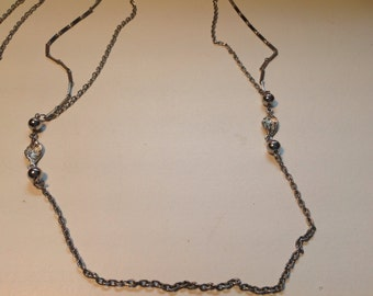 Vintage long chain necklace