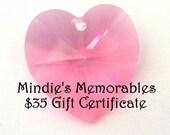 35 Dollar Gift Certificate for Mindie's Memorables