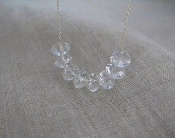 Carrie Necklace Sterling Silver CLEAR Swarovski Crystal