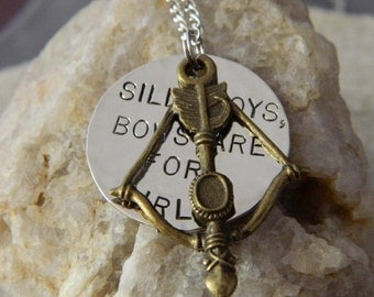 Silly Boys, Bows are for Girls Bow and Arrow Necklace