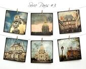 """Paris Postcards SET 03 - SIX 5,5""""x5,5"""" Fine Art Postcards - Montmartre"""