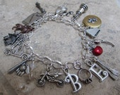 Reserved for MM - Personalized Charm Bracelet Made and Shipped from Forks Washington