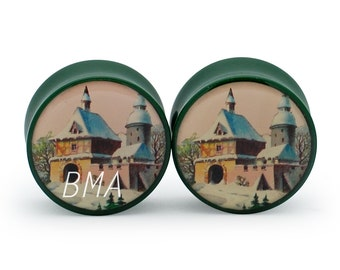 0g Victorian House Plugs (8mm)