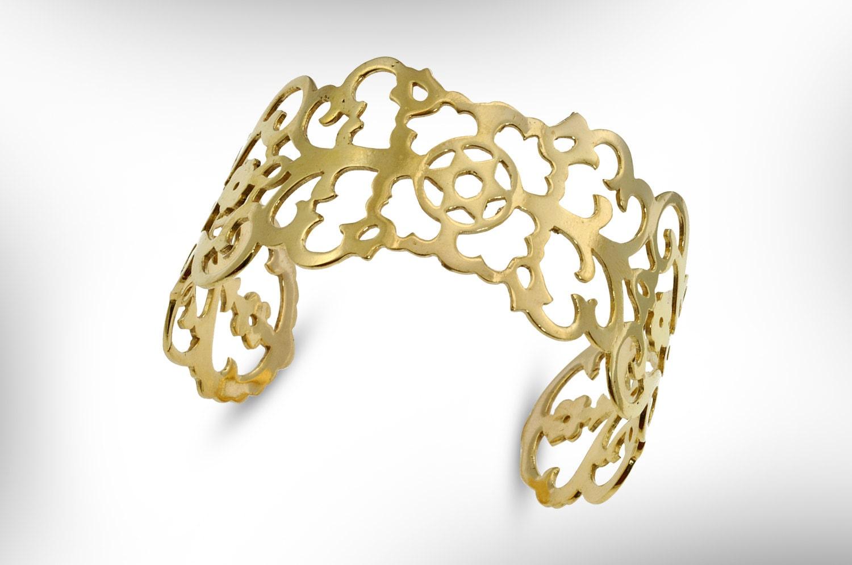 Lace bracelet, Gold bangle, Cuff Bracelet. Star of David, Judaica Jewelry, 22k gold bracelet. Bridal jewelry. filigree,  FREE SHIPPING ,
