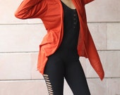 Rust Color Rayon Lycra Cape Wrap