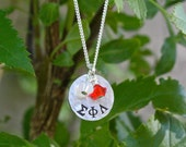 Sigma Phi Lambda Necklace, Petite Size Sterling Silver - Sorority Jewelry, Greek Letter Jewelry, Big Sis Lil Sis Initiation Gift