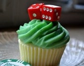 Cupcake Soap - Roll of the Dice Cupcake Soap - Casino Fan - Gambling Party Favor - Fathers Day
