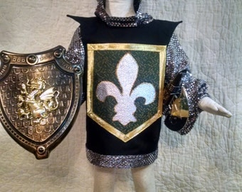 Knight Costume,child  size 4-6, 5 piece set