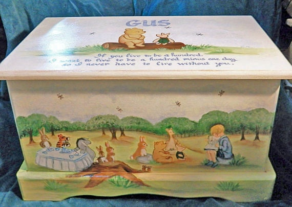 keepsake toy box custom designed inspired by winnie the pooh