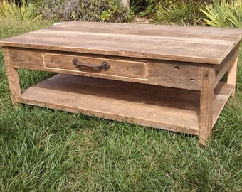 YOUR Customized Reclaimed Rustic Barn Wood Coffee Table with Free Shipping-RBWCT750F