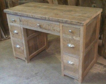 YOUR Custom Made Rustic Barn Wood Desk or Make up Cabinet with FREE SHIPPING - BWD58F