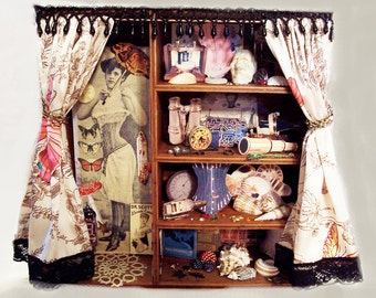 Steampunk Persephones Wunderkammer - Cabinet of Curriosities