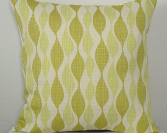 Citrine Decorative Pillow Cover - Green Modern Pillow - Chartreuse Pillow - Geometric Pillow - Citrine Accent Pillow