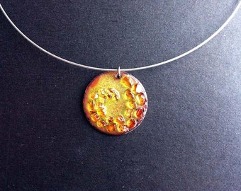 Stained Glass Spiral Necklace