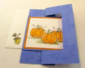 Halloween Thanksgiving Fall Flip Swing Greeting Card Handmade QueenBeeInspirations