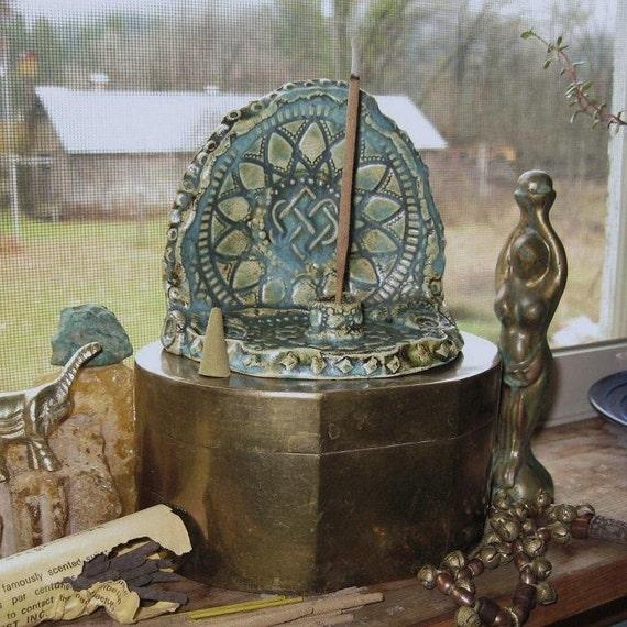 Aqua Incense Burner Celtic Endless Knot Home Decor