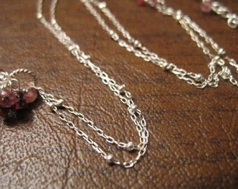1 pc, 14 16 18 20 24 30 36 in, Sterling Silver Chain, SATELLITE CHAIN, finished chain, wholesale dsat done hp
