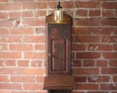 Upcycled Crank Phone Night Light / Cabinet Light / Note Station
