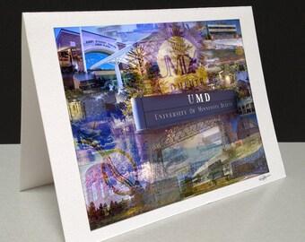 Go Bulldogs 5 x 7 Greeting Card - University of Minnesota-Duluth, Duluth MN