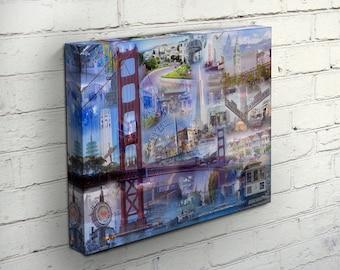 The Golden Gate City Canvas - San Francisco, CA