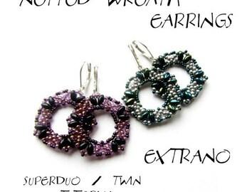 TUTORIAL  - earrings - NETTED WREATH Earrings - immediate download