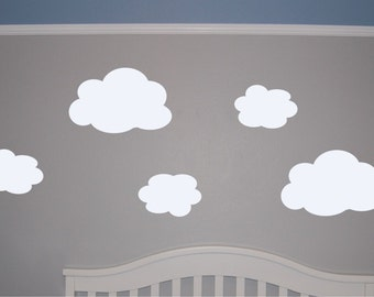 Cloud Wall Decal  Cloud Wall Sticker  Mini Cloud Decal - Nursery wall decals clouds