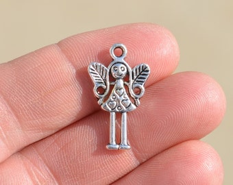 10 Silver Angel  Charms SC1090