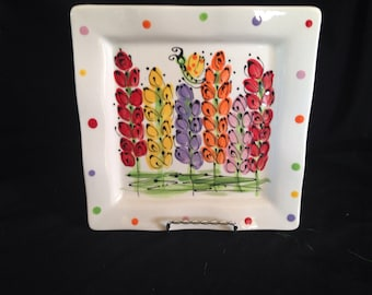 Small sassy square plate
