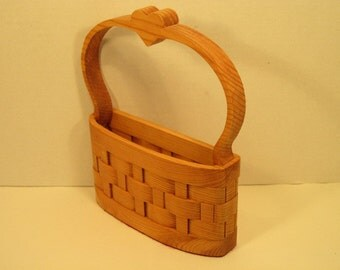 Basket with Heart in Handle Handmade
