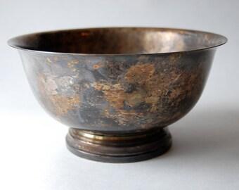Vintage Silver Trophy Bowl, Dublin GA, Consolation Flight , Home Decor