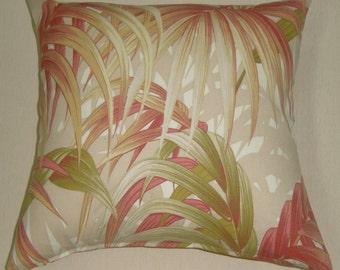 pillow throw pillow sunbrella stripes print outdoors indoors pillow palm leaf terracotta shabby chic SALE